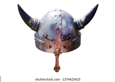 viking hat with big horns empty england