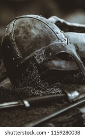 Viking Helmet and Sword