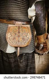 Viking leather bag.