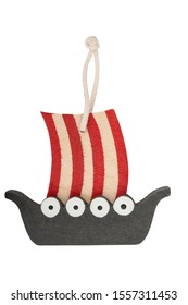 Viking ship decoration isolated on a white background. Clipping path included.