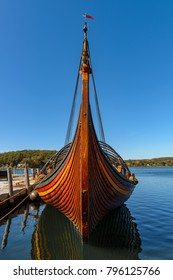 Viking ship docks at Mystic Seaport connecticut
