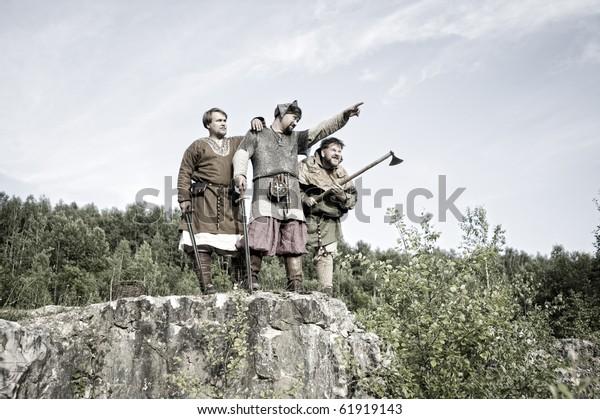 Viking Warriors Stock Photo Edit Now 61919143