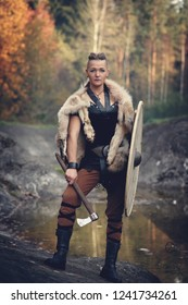 Viking woman with axe