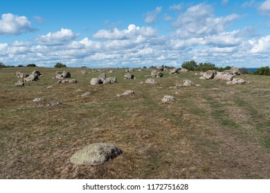 Vikings graveyard from early bronze age at the swedish island Oland