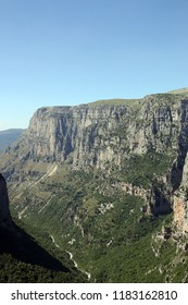 Vikos gorge landscape Pindos mountain Epirus Greece