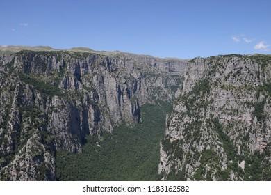Vikos gorge landscape Zagoria Epirus Greece