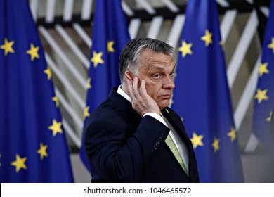 Viktor Orban, Hungary's prime minister arrives for a meeting with European Union leaders in Brussels, Belgium on Jun. 22, 2017