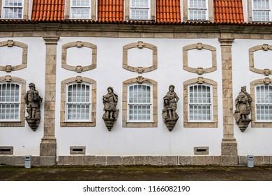 Vila Flor Palace, built XVIII century. Guimaraes, Portugal.