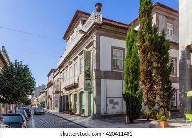 Vila Nova de Famalicao, Portugal. September 06, 2015: Bernardino Machado museum dedicated to one of the first Republic Presidents of Portugal.