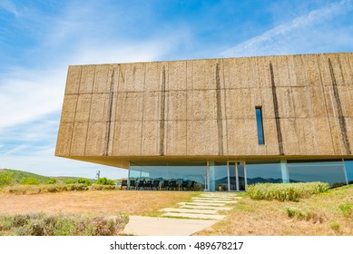 VILA NOVA DE FOZ COA, PORTUGAL - JUNE 9: The Art and Archaeology Museum in Coa Valley Archaeological Park, Portugal on June 9, 2016. Coa Valley Archaeological Park is famous for Prehistoric Rock-Art.