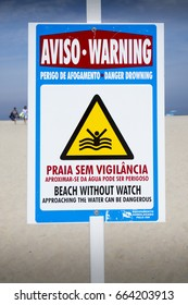 Vila Praia de Ancora, Portugal, June 18, 2017: Signs along there is beach, Beach areas in requalification and always vigilant.