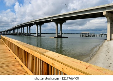 Vilano Beach, Florida Bridge Crossing over the river