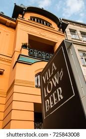Villa Löw-Beer is an Art Nouveau villa in the Brno, designed by architect Alexander von Neumann for the industrialist Moritz Fuhrmann. Czech Republic. August 22th 2017. Editorial photo.