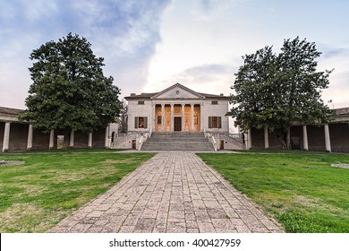 Villa Badoer, Rovigo, Italy. Villa Badoer is one of the famous villas designed by the architect Andrea Palladio in Veneto region during the 16th century.