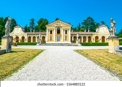 Villa Barbaro designed by Andrea Palladio architect, year 1560, at Maser of Treviso in Italy - aug 06 2014