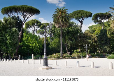 The Villa Borghese park in Rome, Italy