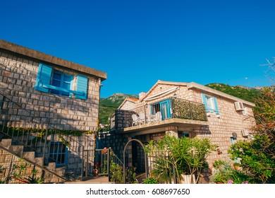 Villa by the sea. Montenegro, Kotor Bay, Adriatic sea