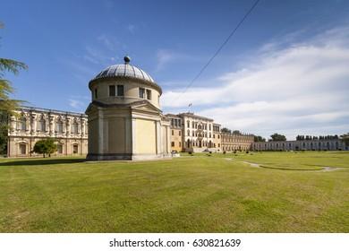 Villa Contarini in Piazzola sul Brenta is perhaps one of the largest, most grandiose and composite building complexes designed in the characteristic architectural style of a Villa Veneta structure.