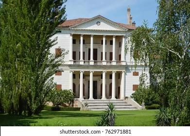 Villa Cornaro designed by Andrea Palladio architect, year 1588, at Piombino Dese of Padova in Italy - Jun 28 2014