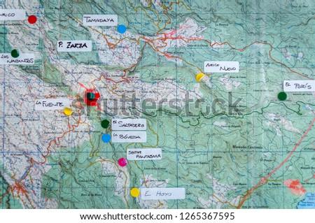 Map Of Spain Tenerife.Villa De Arico Canary Islands Tenerife Stock Photo Edit Now