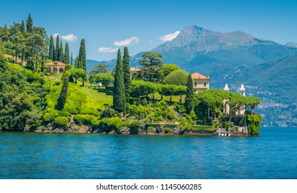 Villa del Balbianello, famous villa in the comune of Lenno, overlooking Lake Como. Lombardy, Italy.