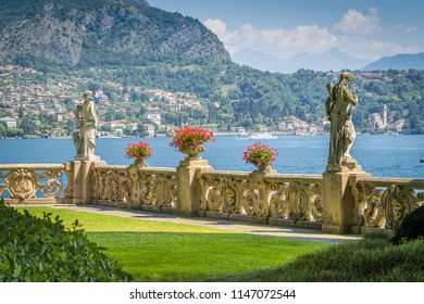 Villa del Balbianello, famous villa in the comune of Lenno, overlooking Lake Como. Lombardy, Italy. July-18-2018