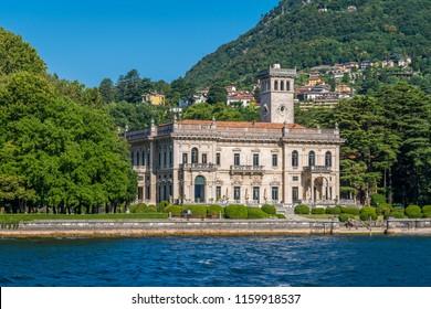 Villa Erba in Cernobbio, on Lake Como, Lombardy, Italy.