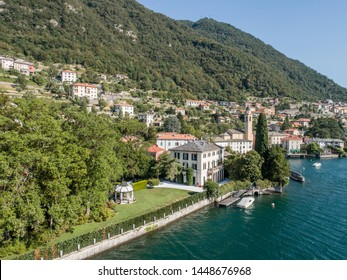Villa Oleandra, Laglio. George Clooney residence on Como lake in Italy.  Europe, summer 2019