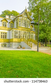 Villa transported from Ruda Pabianicka - Open-air Museum of the Lodz Wooden Architecture, Lodz, Poland