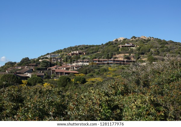 Villa in Tuscany with blue sky