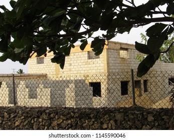 Villa under construction in the Caribbean