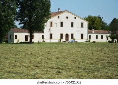 Villa Valmarana designed by Andrea Palladio architect, year 1542, at Vigardolo of Monticello Conte Otto near Vicenza in Italy - aug 08 2014 - Shutterstock ID 766421002