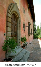 Villa Vignamaggio, assumed to be where Leonardo de Vinci painted the Mona Lisa, now a winery and Hotel, & the location for Kenneth Branagh's film of William Shakespeare's Much Ado about Nothing