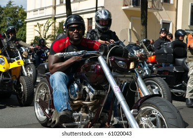 VILLACH, AUSTRIA - SEPTEMBER 11: Participants in the annual parade at the European Bike Week on September 11, 2010 in Villach, Austria. The festival at Lake Faak is the largest Biker Event in Europe.