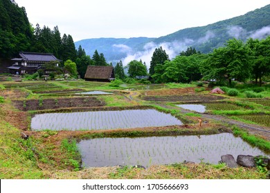 Village of Ainokura, in Gokayama, Toyama Prefecture, Japan, is an UNESCO World Heritage site famous for its historical Gassho-zukuri houses.