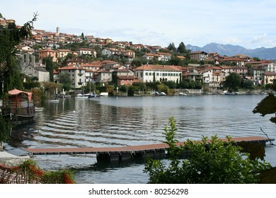 Village along Lake Como in Italy