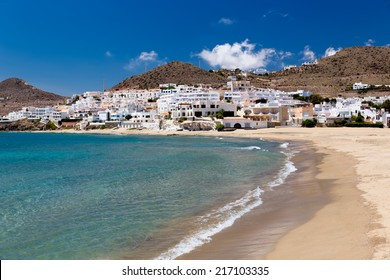 Village in Andalusia at seaside, Cabo de Gata, Spain