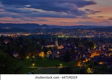 The village Arlesheim in Basel-country (Switzerland).