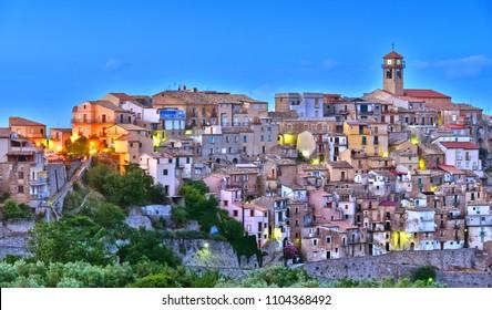 The village of Badolato in the Province of Catanzaro, Calabria, Italy.
