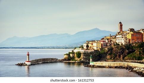 village bastia at corsica - france