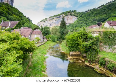 The village of Baume les Messieurs, in the French Jura