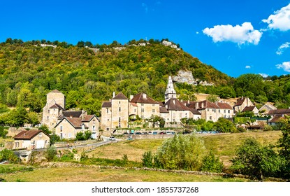 Village of Baume-les-Messieurs in the Jura department of France - Shutterstock ID 1855737268