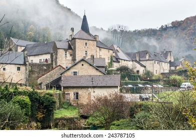 Village of Baume-les-Messieurs in the Jura in France