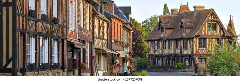 The village of Beuvron en auge, Normandy, France
