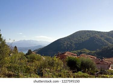 The village of Biassa, near Spezzia (Liguria Italy).