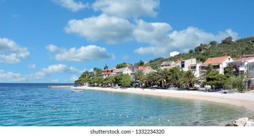 Village of Bratus at Makarska Riviera,adriatic Sea,Dalmatia region,Croatia