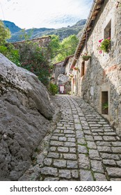 The village Bulnes in the Picos de Europa, is one of the remotest parishes in Spain. No roads reach Bulnes. It can now be accessed by an underground funicular railway from Poncebos as well by foot