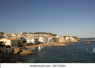 The village of Calella de Palafrugell from the round path along the Catalan coast, Catalonia