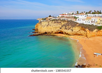 The village Carvoeiro in the Algarve Portugal