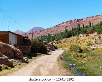 Village of Caspana .The desert of Atacama in the north of Chile is the driest region on earth.